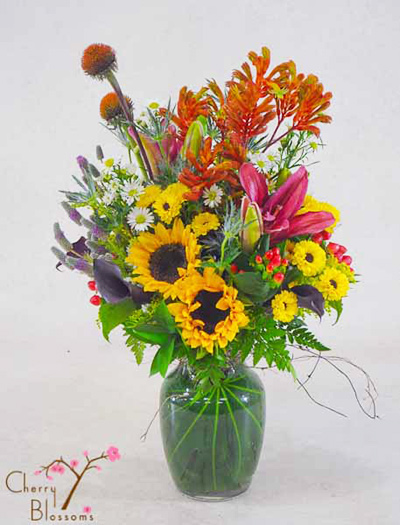 Wildflower Colorado Bouquet Cherry Blossoms Florist Westminster Co