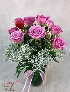 Sweet Pinks 40cm Roses