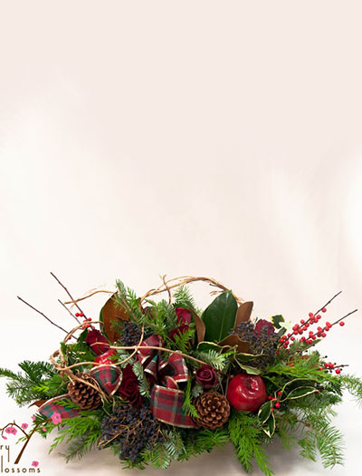 Traditional holiday centerpieces cherry blossoms florist