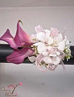 Pink Calla and Orchids