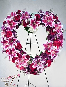 Lovely Farewell Heart Wreath