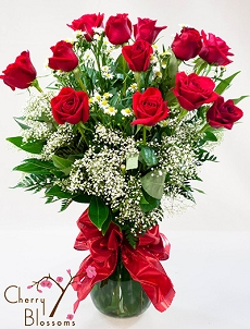 Long-Stem Red Roses- 60-70cm