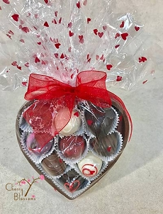 Chocolate Heart with 9 Truffles