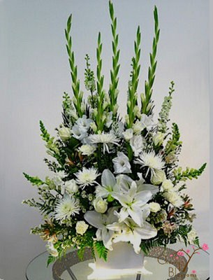 All White Tribute Urn
